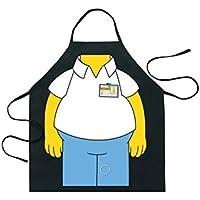 Práctico Creativo Divertido Cartoon Hanging Neck Impermeable Delantal para Cafe Kitchen BBQ Party (Negro) Picnic al Aire Libre