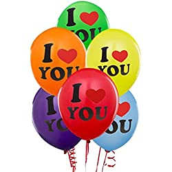 I LOVE YOU Multi Colour Printed Balloon For Valentines Day Party , Wedding , Anniversary , Engegment ,Birthday , Bachalor Party , Theme Party Pack Of 20