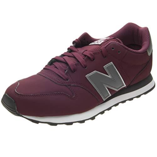 New Balance Herren 500 Sneaker, Rot Grey Burgundy, 42 EU