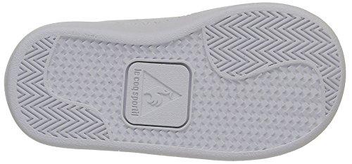 Le Coq Sportif - Courtone Inf S Lea, Scarpine primi passi Unisex – Bimbi 0-24 Bianco (Optical White/Evergr)