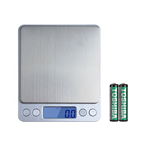 Wellehomi 500g x 0.01g Digital Pocket Scales,0.001(0.01g)oz High-precision Jewellery Scale, Food scales, Accurate Gram and slim Design Batteries Included | 2 Trays include & LifeTime Warranty