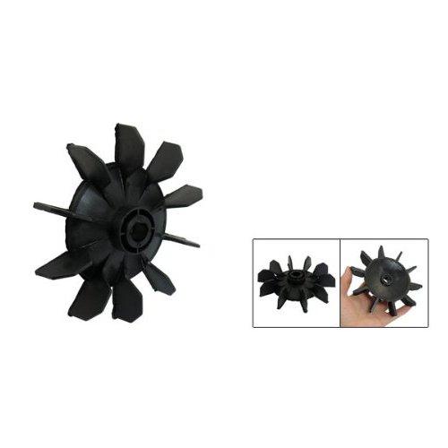 TOOGOO(R) Dix aubes de pale de ventilateur ou de moteur Partie de compresseur d'air en plastique noir