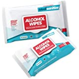 Medisanitize Antibacterial 70% Alcohol Wipes for Fast Acting Hand Sanitising and Surface Cleaning - Wipes for Disinfecting an