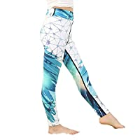 Yying Girl Yoga Pants Bodybuilding Comfortable Youth Leggings Forest Flower Floral Kids Skinny Sports Trousers 97018 L