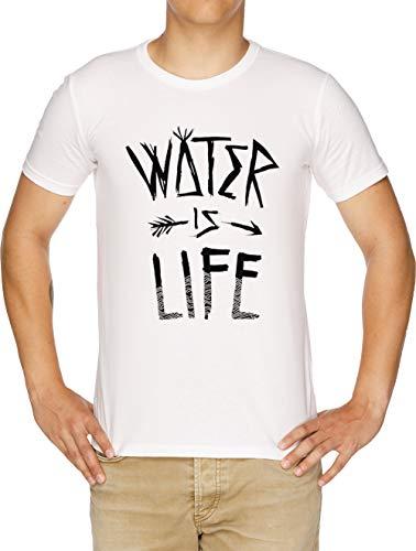Water is Life Herren T-Shirt Weiß -
