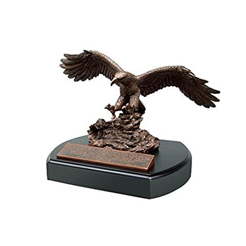 Lighthouse Christian Products Moments of Faith Standard Eagle Sculpture with Base Size 5 5/8 x 7