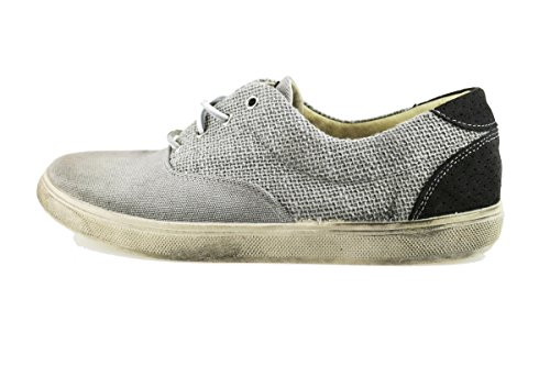 BEVERLY HILLS POLO CLUB sneakers uomo grigio tela camoscio AH991 (43 EU)