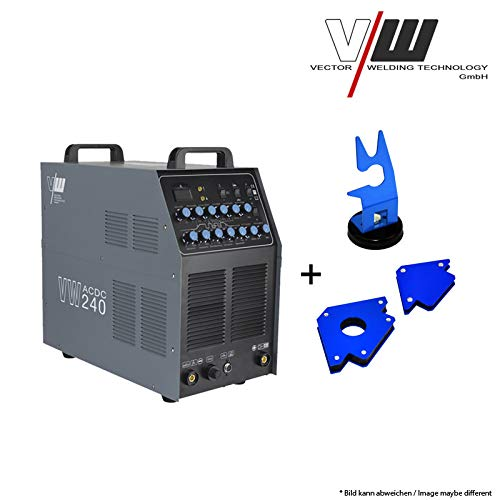 26-zoll-profi-griff Aus Aluminium (SET6: VECTOR Schweißgerät AC/DC WIG VW240 Puls Inverter + Magnete)