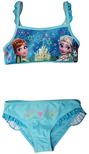 NEUE Girls Disney Frozen Anna Elsa Schwimmen Kostüm / Bikini / Bademode (8 Jahre (128 cm), (Kostüme Disney Frozen Anna)