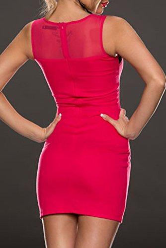 E-Girl femme Rose SY21553-1 robe moulante Rose