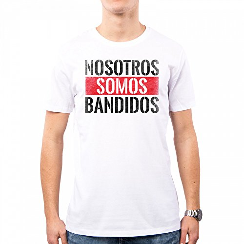 PacDesign Camiseta Hombre Narcos Serie TV Frasi Pablo Escobar Emilio Anni 80 80s Pd0020a, M, White