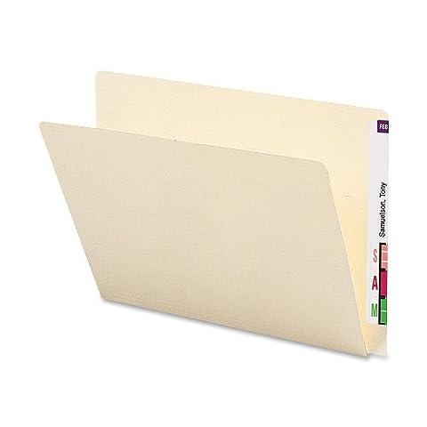 Folders, Straight Cut, Single-Ply Extended End Tab, Letter, Manila, 100/Box