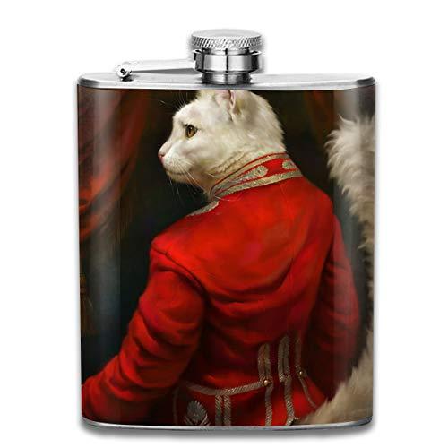 Werert Stainless Steel Flasks 7 Oz Eldar Zakirov Cats Whiskey Flask Hip Flask Leak Proof Wine Men Women