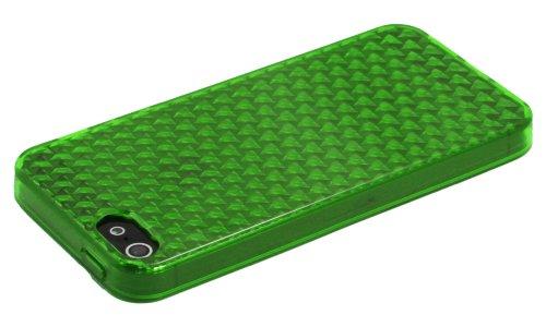 Luxburg® In-Colour Design Schutzhülle für Apple iPhone 5S / 5 in Farbe Türkis Blau / Hellblau Hülle Case aus Silikon Smaragd Grün