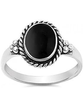 Ring aus Sterlingsilber mit Stein