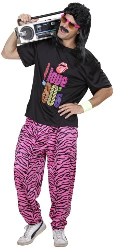 Widmann 9885Q - 80-er Jahre Junge, T-Shirt und weite Hose, Größe M / (Kostüme Herren Jahre 90er)