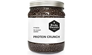 Body Genius PROTEIN CRUNCH (Chocolate Negro). Bolitas de proteína recubiertas de chocolate negro sin azúcar. 500 gr