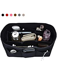 Hokeeper Organizador de bolsillo de fieltro, organizador de bolsillo, bolso en el bolso, organizador de la bolsa de pañales, soporte por sí mismo, 12 compartimentos, 3 tamaños, 6 colores