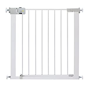 Safety 1st Secure Tech Simply Close Metal Gate, White