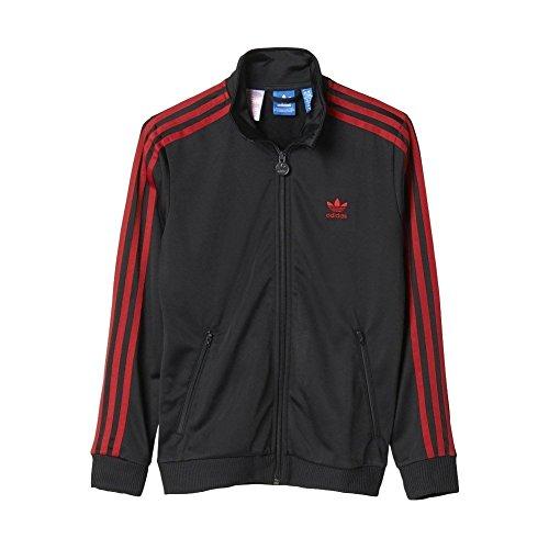 adidas Jungen Trainingsjacke Tartan Firebird (104, Black/University Red)