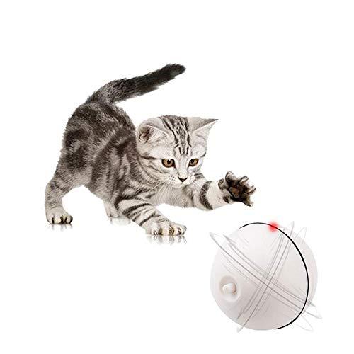 OOOUSE Jouet pour Chat Intelligent Interactif, Balle Interactive de Jouets de Chat, Ballon Rotatif à 360 Degrés, Chargement par USB, avec éclairage Del à Lumière
