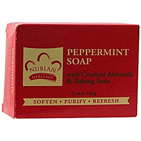 Peppermint and Aloe Soap Bar 5 Ounces by Nubian Heritage