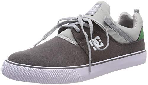DC Shoes Heathrow Vulc, Scarpe da Skateboard Uomo, Grigio Grey/Green Xssg, 38.5 EU