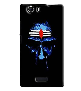Blue Throat Om Namah Shivay Pattern Hard Plastic Printed Back Cover/Case For Micromax Nitro 2