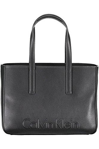 Preisvergleich Produktbild Calvin Klein Edge Medium Damen Handtasche Schwarz