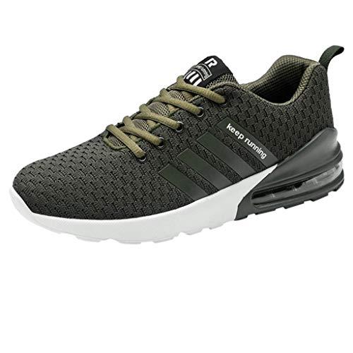 Luckycat Schuhe Herren Freizeitschuhe Wanderschuhe Männer Jungen Laufschuhe atmungsaktiv Schnürschuhe Herren Sportschuhe Running Schnürer Laufschuhe Atmungsaktiv Trainers Turnschuhe Sneakers