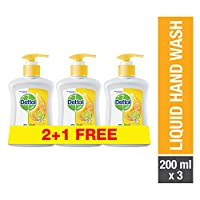 Dettol Fresh Anti-Bacterial Liquid Hand Wash 200ml 2+1 Free