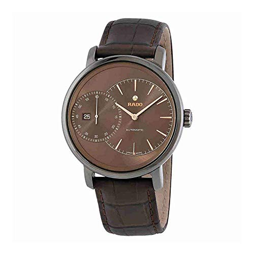 Rado Men's DiaMaster 43mm Leather Band Ceramic Case Automatic Watch R14129306