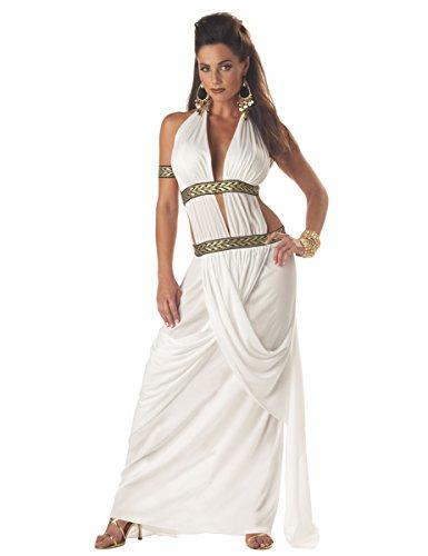 Römerin Kostüm Toga lang weiss-gold (Gold Kostüme Toga)