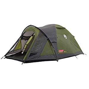 Coleman Tent Darwin 3+, Compact 3 Man Dome Tent, also Ideal for Camping in the Garden, Lightweight 3 Person Camping and Hiking Tent, Waterproof, Sewn-in Groundsheet