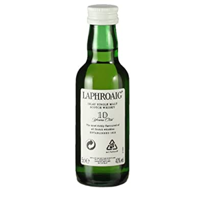 Laphroaig 10 year old Single Malt Scotch Whisky 5cl Miniature