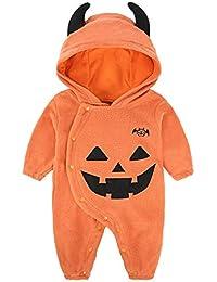 Onesies Traje de Gatear de Halloween para niños, Mono de otoño e Invierno para bebé, Disfraz de bebé de Manga Larga Lindo ZDDAB