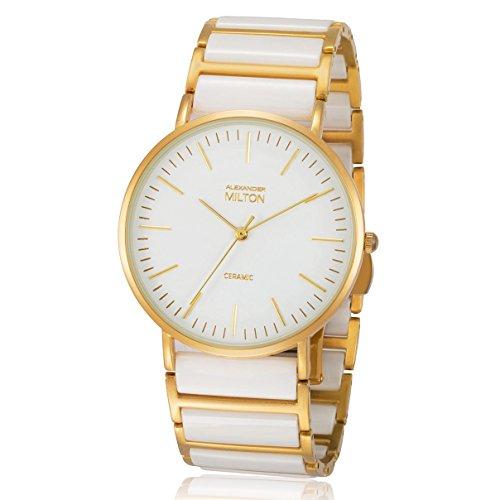 ALEXANDER MILTON - montre homme - CERES, blanc/dore
