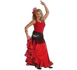 LLOPIS  - Disfraz Adulto Falda rociera roja Adulto