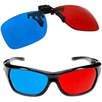 Red Cyan Blue Clip-on 3D Glasses 3 D Dimensional Anagly BuyinCoins