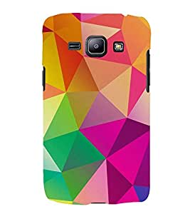 FUSON Abstract Background Consisting Triangles 3D Hard Polycarbonate Designer Back Case Cover for Samsung Galaxy Core 2 G355H :: Samsung Galaxy Core Ii :: Samsung Galaxy Core 2 Dual