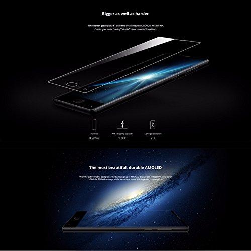Doogee MIX 13,97 cm (5,5 Zoll) Smartphone (6GB RAM 64GB ROM Android 7.0 4G Helio P25 Octa-Kern 2,5 GHz Metallgehäuse Berührungssensor Front- und Doppel Rückkameras) Blau - 9