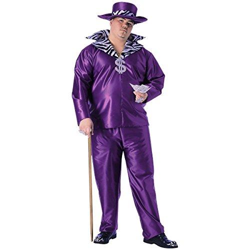 Big Kostüm Daddy - Rubie 's Offizielle Pimp Big Daddy Herren Erwachsenen Kostüm-Plus Größe