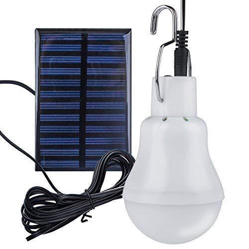 Solar Glühbirne - Beinhome Solarlampe LED Licht Birne 3 W, 3 m Ladekabel Solar Panel Beleuchtung für Camping, Wandern, Angeln, Gartenhaus