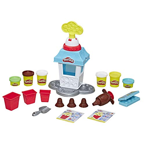 Play-Doh Kitchen Creations Popcorn Party Play Food Set with 6 Non-Toxic Cans