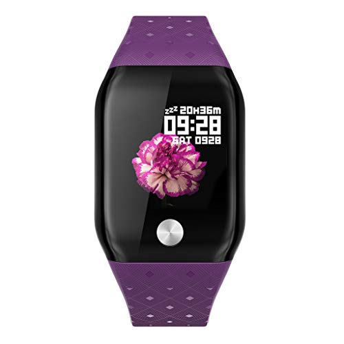 Luckhome Unisex Armbanduhr Digitale Sportuhr Damen Herren Digital Sport Uhr,Smart Armband Sport Fitness Aktivität Herzfrequenz Tracker Blutdruck Bracele(Lila)