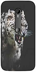 Snoogg Leopard Fury Designer Protective Back Case Cover For Motorola G 3Rd Ge...