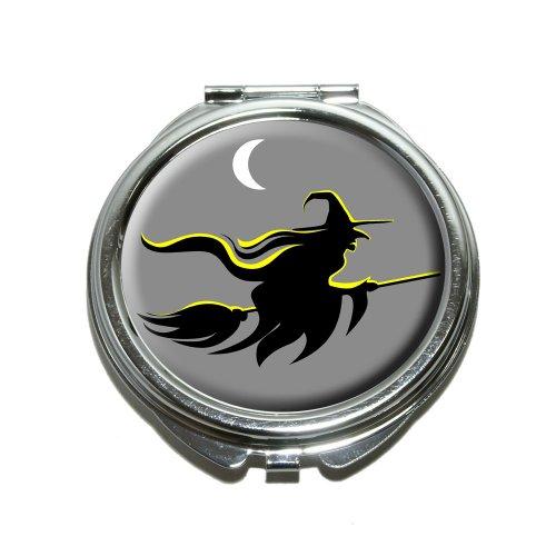 Hexe–Halloween Compact Geldbörse Spiegel (Halloween Geldbörsen)