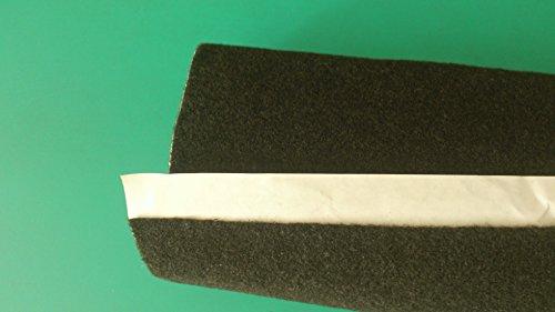 Ra900 moquette adesiva acustica nera rotolo misura 70x140