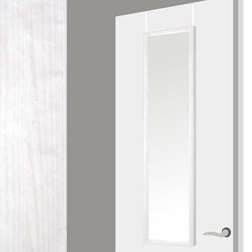 Espejo-para-puerta-en-madera-decape-blaco–Color-blanco