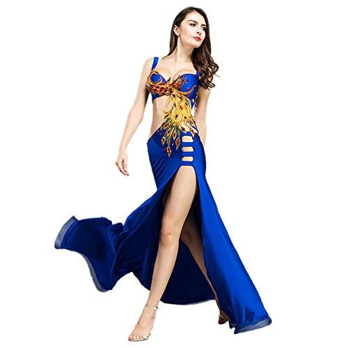 ROYAL SMEELA Bauchtanz Kostüm Set BH und Rock Frauen Bauchtanz Kleid Vorzüglich Phönix-Totem Kostüm Set Sexy Bauchtanz-Outfit Anzugkleid Plus ()
